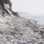 Vereister Strand Ahrenshoop Darß 5. März 2018